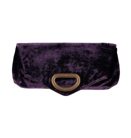 Dries Van Noten Dries Van Noten East-West Crushed Velvet Clutch