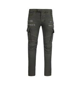 Balmain N/A - Balmain Cargo Green Biker Jeans