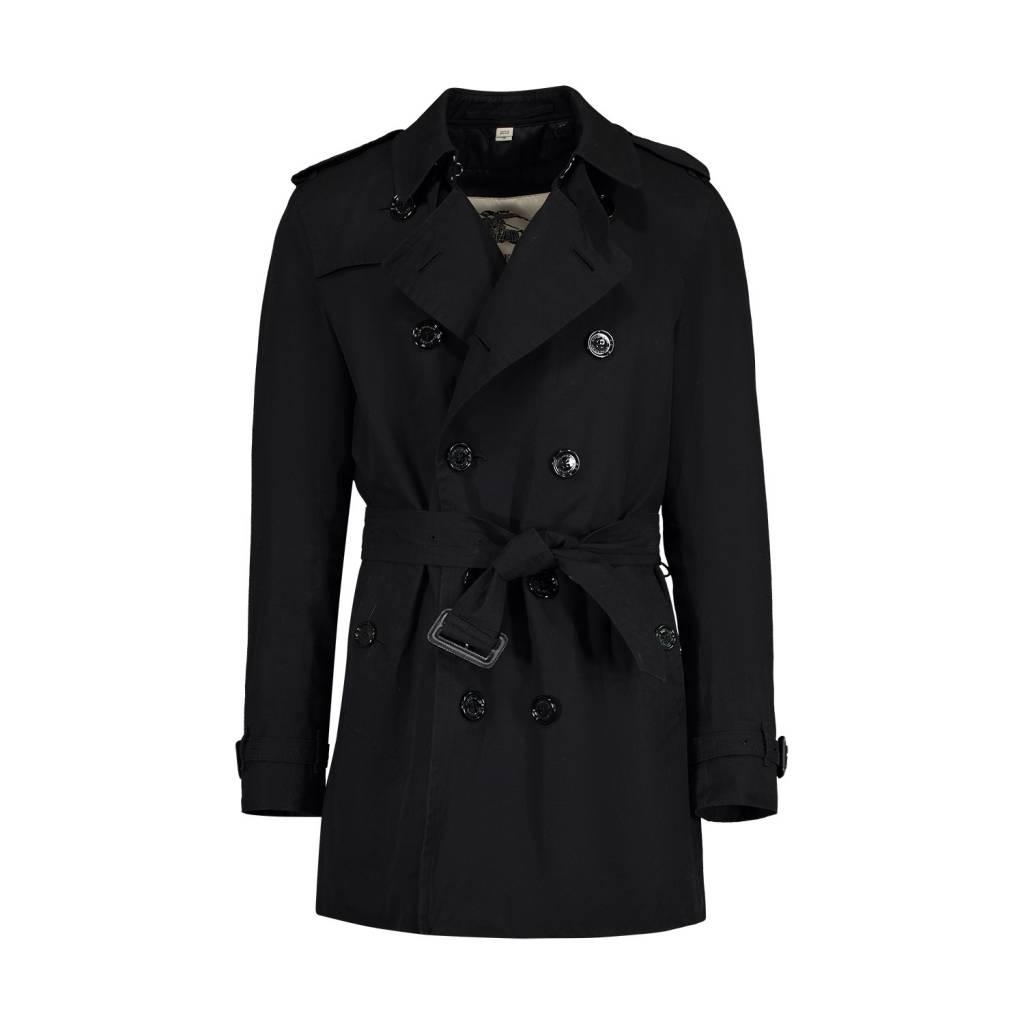 ba75634fe69 Burberry Burberry trench-coat classique noir The Kensington avec veste en  laine ...