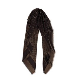 Louis Vuitton N/A - Louis Vuitton Brown Monogram Shine Scarf