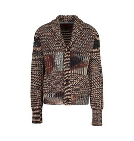 Missoni Missoni Collectable Brown and Tan Cashmere Cardigan