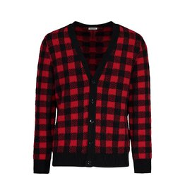 Saint Laurent Paris Saint Laurent Paris cardigan en mohair et alpaga motifs carreaux