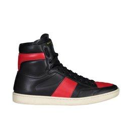 Saint Laurent Paris N/A - Saint Laurent Paris Black And Red High Top Sneakers