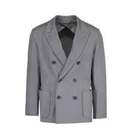 Lanvin Lanvin blazer gris en coton à double boutonnage