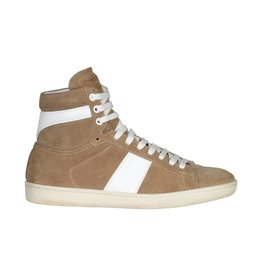 Saint Laurent Paris Saint Laurent Paris Tan Suede High-Top Sneakers