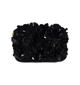 Marni Marni Black Leather Embellished Bag