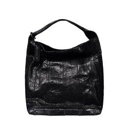 Jil Sander Jil Sander Black Large Snakeskin Bag