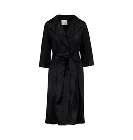 Lanvin Lanvin Black Thick Silk Coat