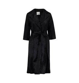 Lanvin Lanvin manteau noir épais long en soie