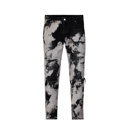 Saint Laurent Paris Saint Laurent Paris Black and White Acid Washed Jeans