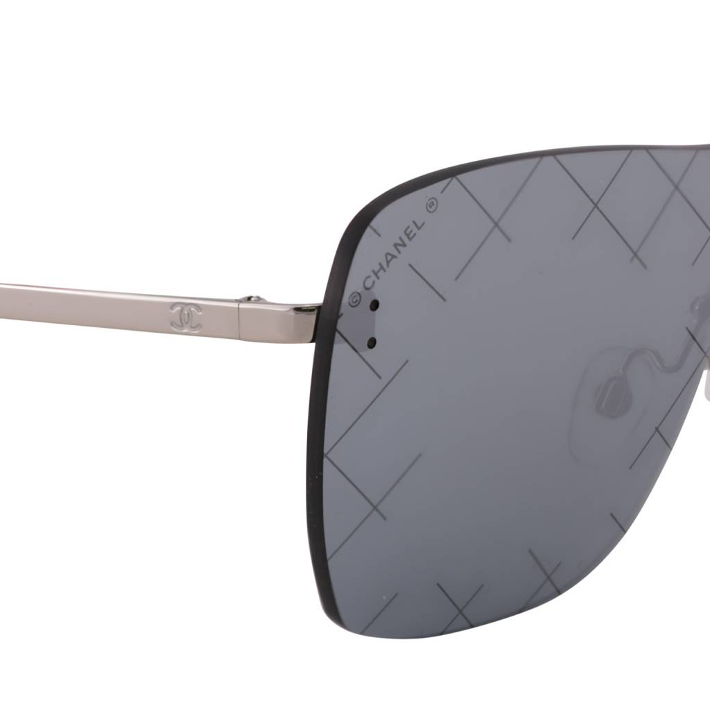 Chanel N/A - Chanel Mirror Shield Quilted Sunglasses