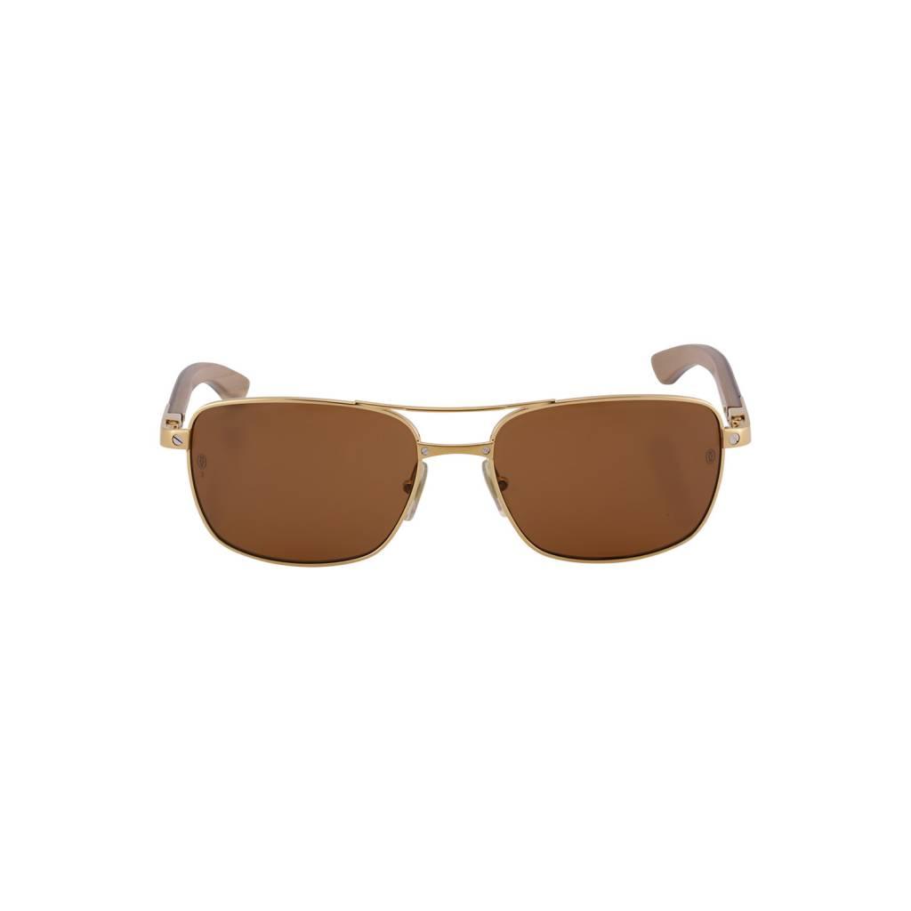 9e55d8761deb6 Cartier NON DISPONIBLE - Cartier lunettes de soleil Édition Santos-Dumont  dorées ...
