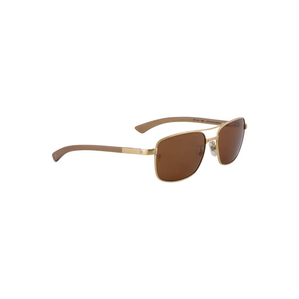 Cartier N/A - Cartier Edition Santos-Dumont Gold Sunglasses