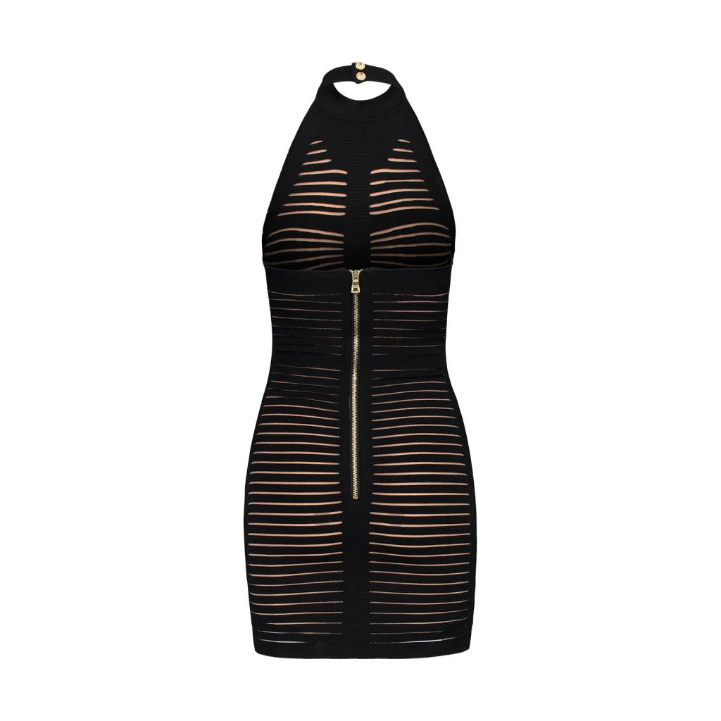 Balmain N/A - Balmain Black Halter Bodycon Dress