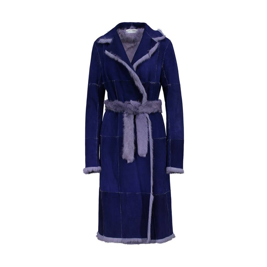 Dolce & Gabbana Dolce & Gabbana Purple Reversible Fur Coat