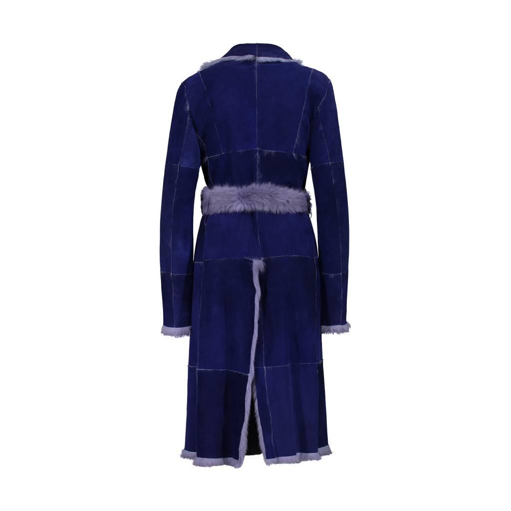 Dolce & Gabbana Dolce & Gabbana manteau réversible mauve en suède et fourrure