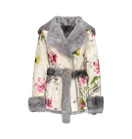 Dolce & Gabbana Dolce & Gabbana Rabbit Fur Coat Reversible with Hand Painting