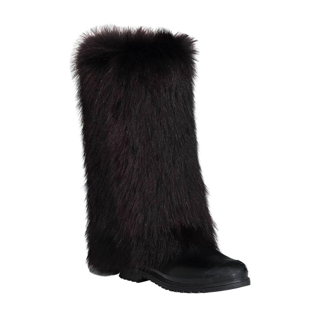 Marni Marni Black Welling Rainboots with Fur Cover