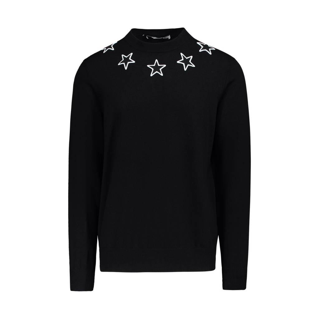d1903617ab2 Givenchy NON DISPONIBLE - Givenchy pull noir en laine avec appliqué  d étoiles ...