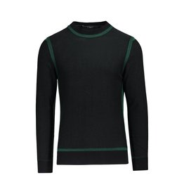Givenchy NON DISPONIBLE - Givenchy pull en laine noir avec détails bordures vertes