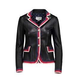 "Gucci NON DISPONIBLE - Gucci blazer en cuir ""Blind For Love"""