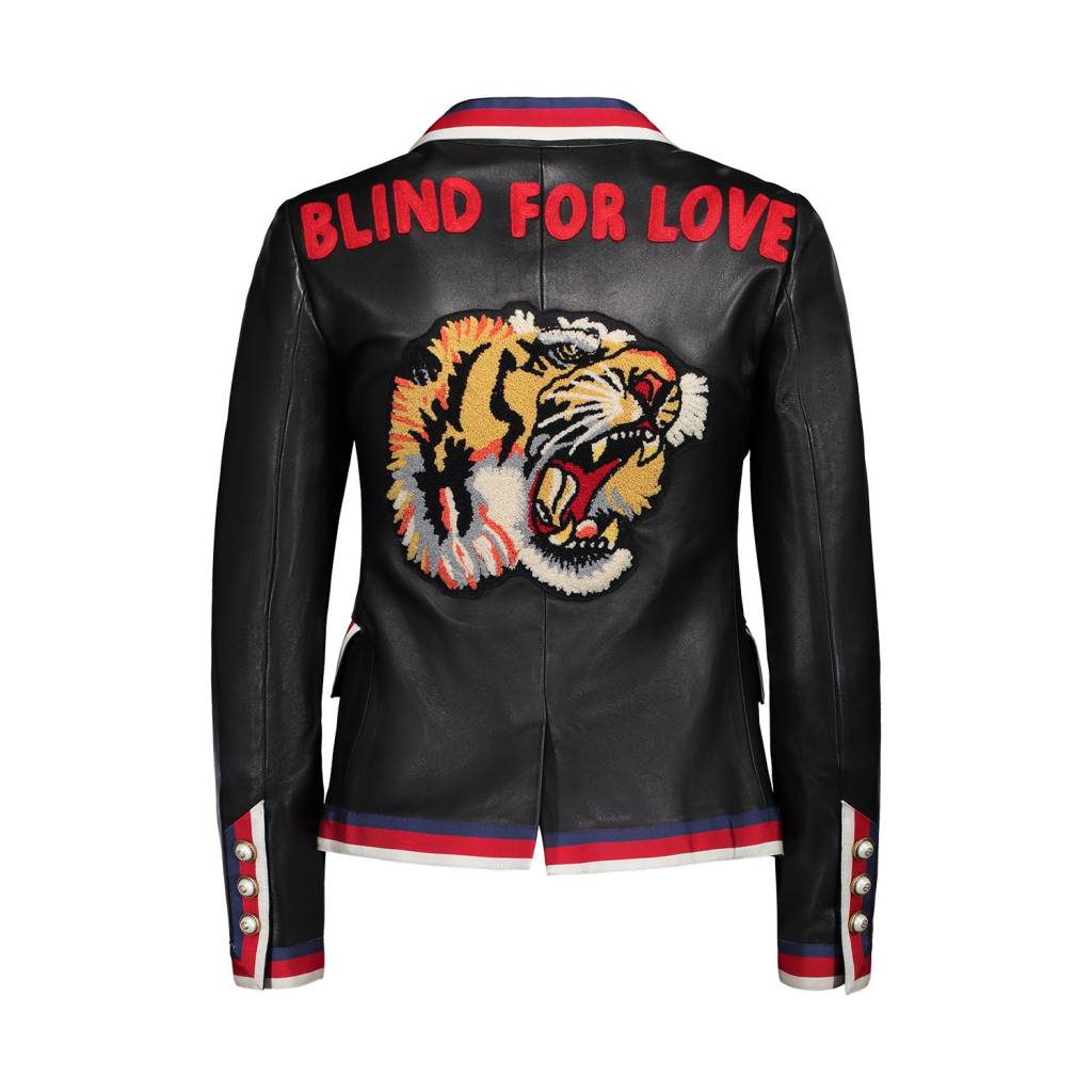 Gucci N/A - Gucci 'Blind For Love' Leather Blazer