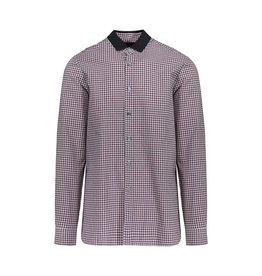 Lanvin Lanvin chemise à carreaux rouge avec col en gros-grain