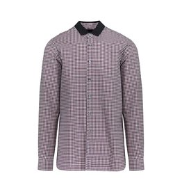 Lanvin Lanvin Red Checkered Shirt With Grosgrain Collar