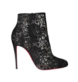Christian Louboutin NON DISPONIBLE - Christian Louboutin botillons noirs Miss Tennis 100