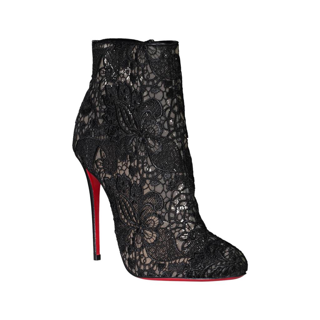Christian Louboutin N/A - Christian Louboutin Black Miss Tennis 100 Booties