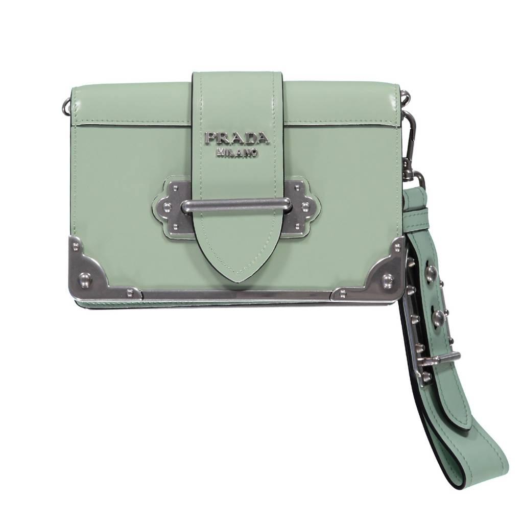 Prada NON DISPONIBLE - Prada petit sac pochette Cahier couleur menthe