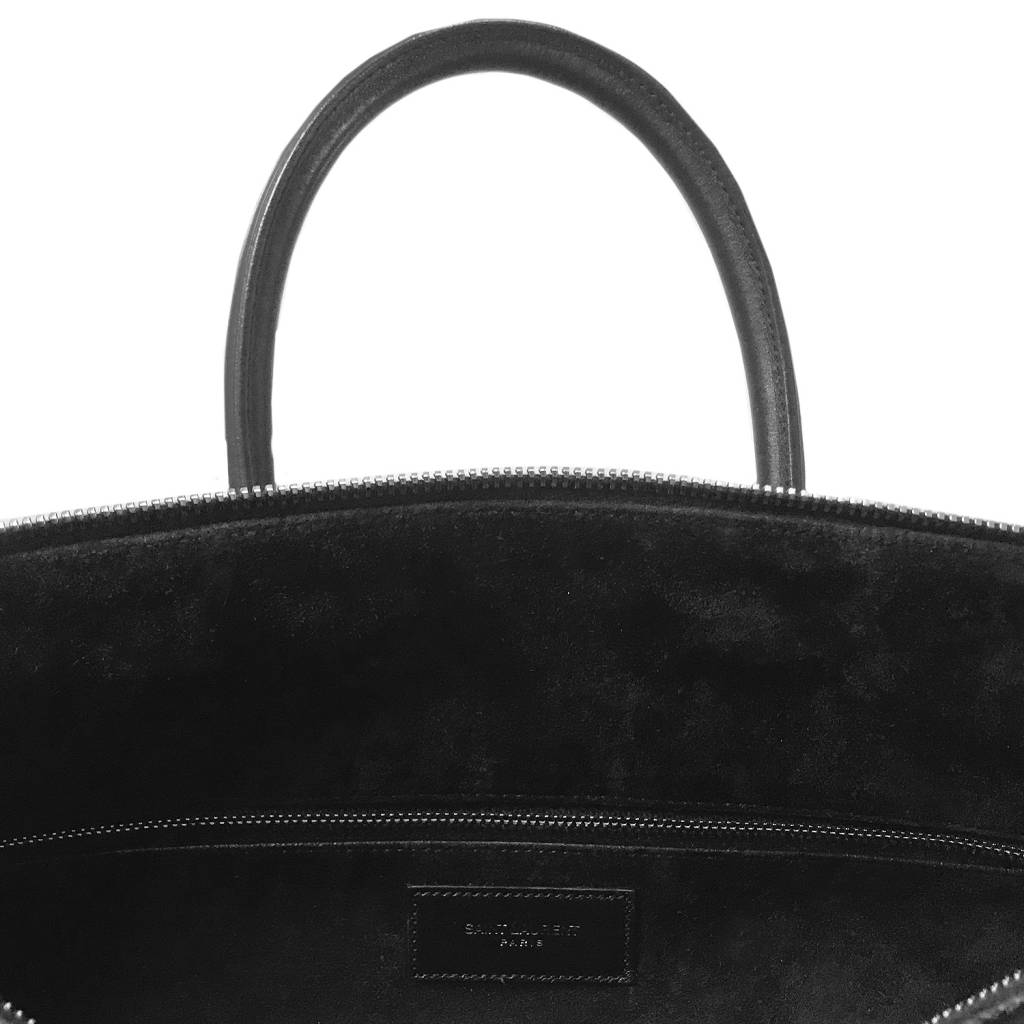 Saint Laurent Paris Saint Laurent Paris Black Studded Leather Duffle 6 Bag