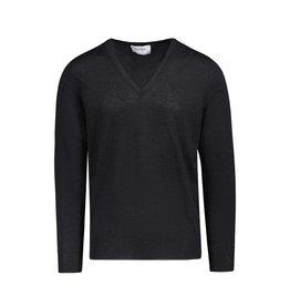 Yves Saint-Laurent Yves Saint-Laurent pull charbon col en V en laine