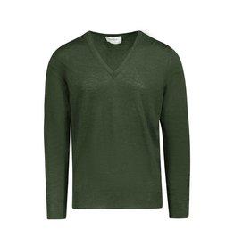 Yves Saint-Laurent Yves Saint Laurent Green Wool V-Neck Sweater