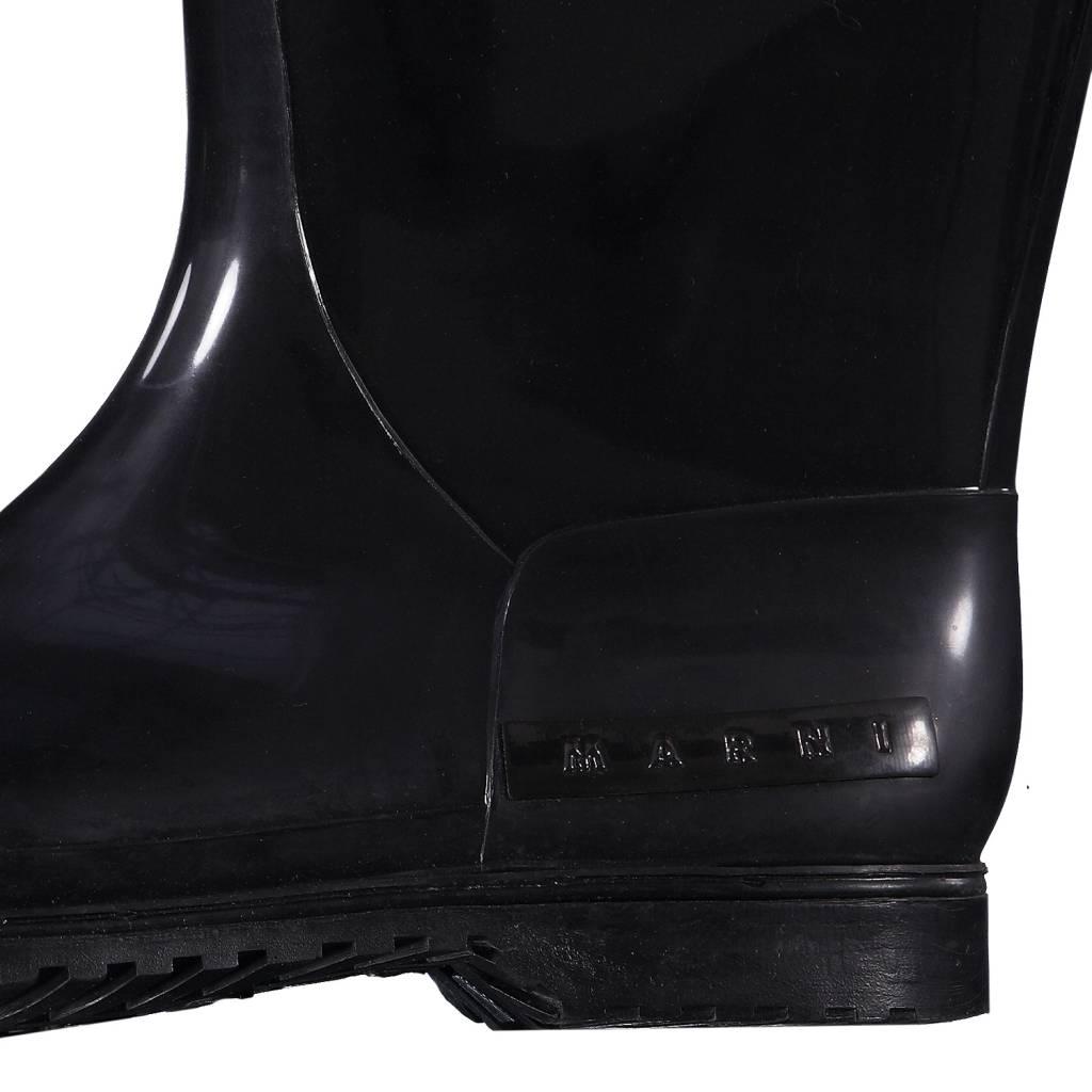 Marni Marni bottes de pluie noires Welling avec fourrure
