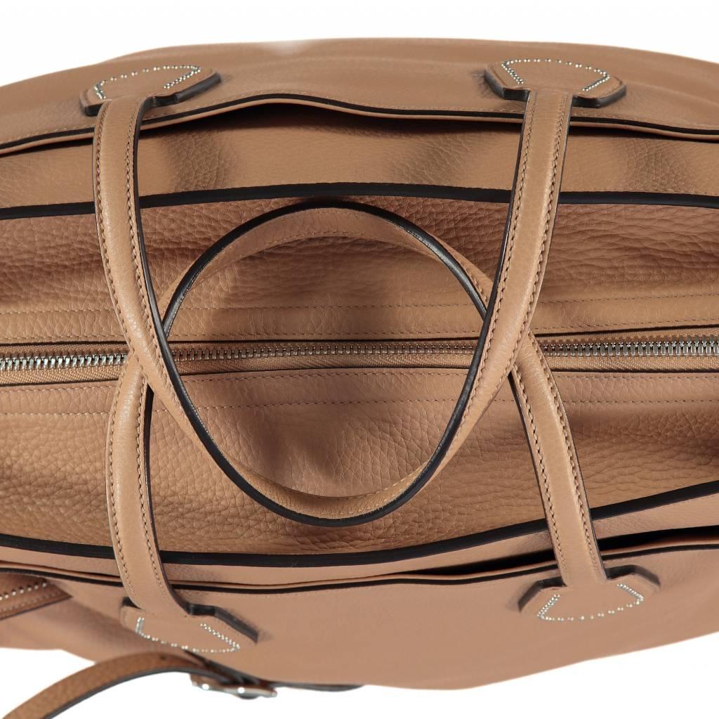 Gucci NON DISPONIBLE - Gucci sac de week-end en cuir beige