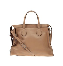 Gucci Gucci Beige Leather Weekend Bag
