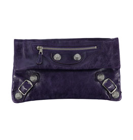 Balenciaga Balenciaga Purple Leather Giant Envelope Pouch