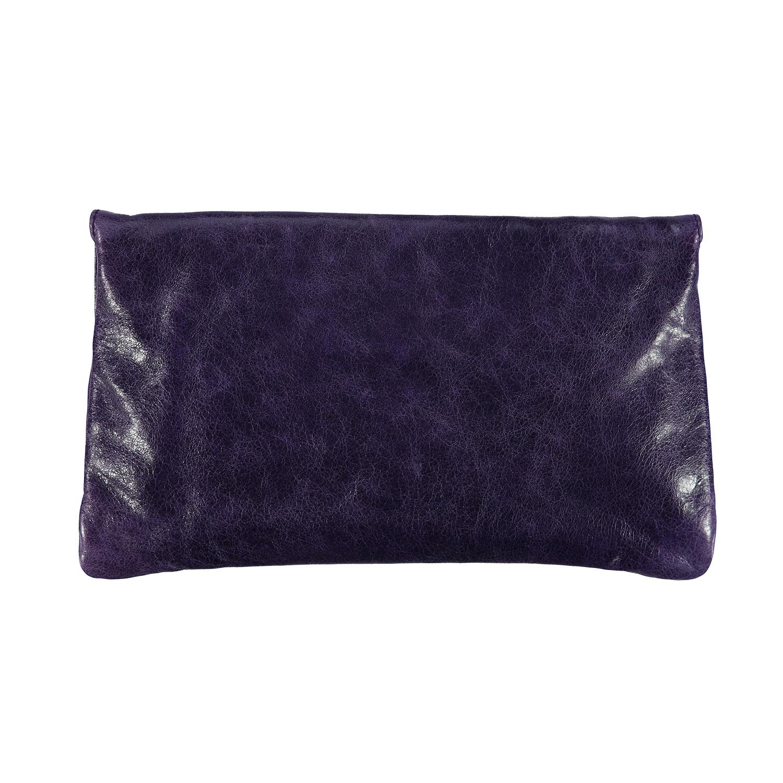 Balenciaga NON DISPONIBLE - Balenciaga enveloppe géante mauve raisin en cuir