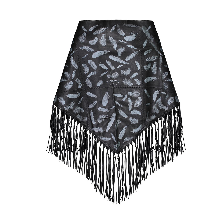 """Hermès Hermès châle à franges """"Plumes"""" en cuir"""