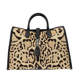 Gucci Gucci  grand cabas Jackie imprimé léopard