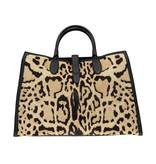 Gucci N/A - Gucci Jackie Calf Hair Leopard Large Tote