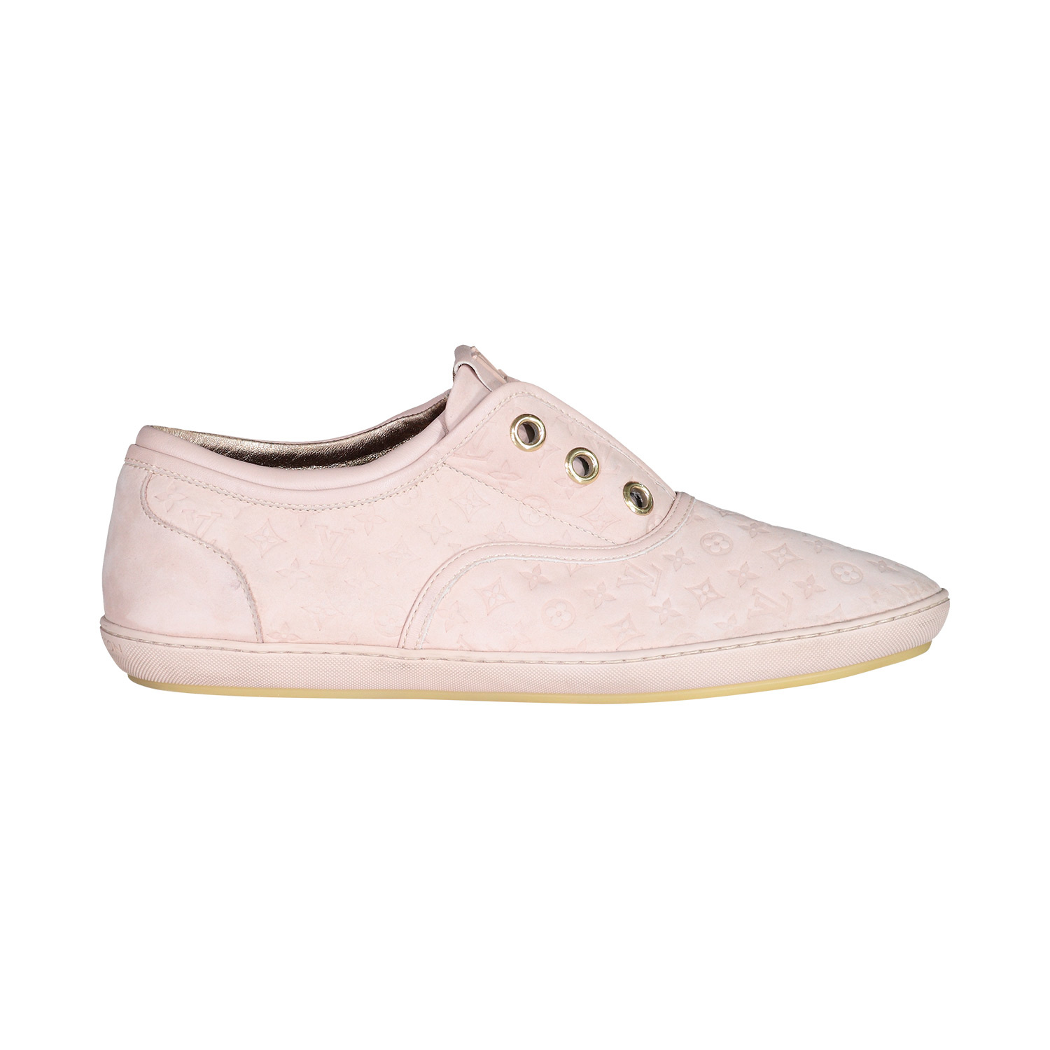 Louis Vuitton N/A - Louis Vuitton Dusty Pink Suede Mongram Low-top Sneakers