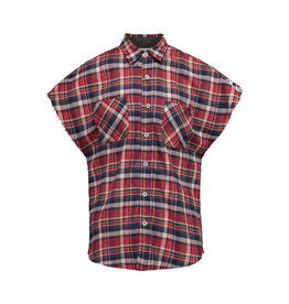 Fear of God N/A - Fear of God Red Checked Cutoff Sleeve Shirt