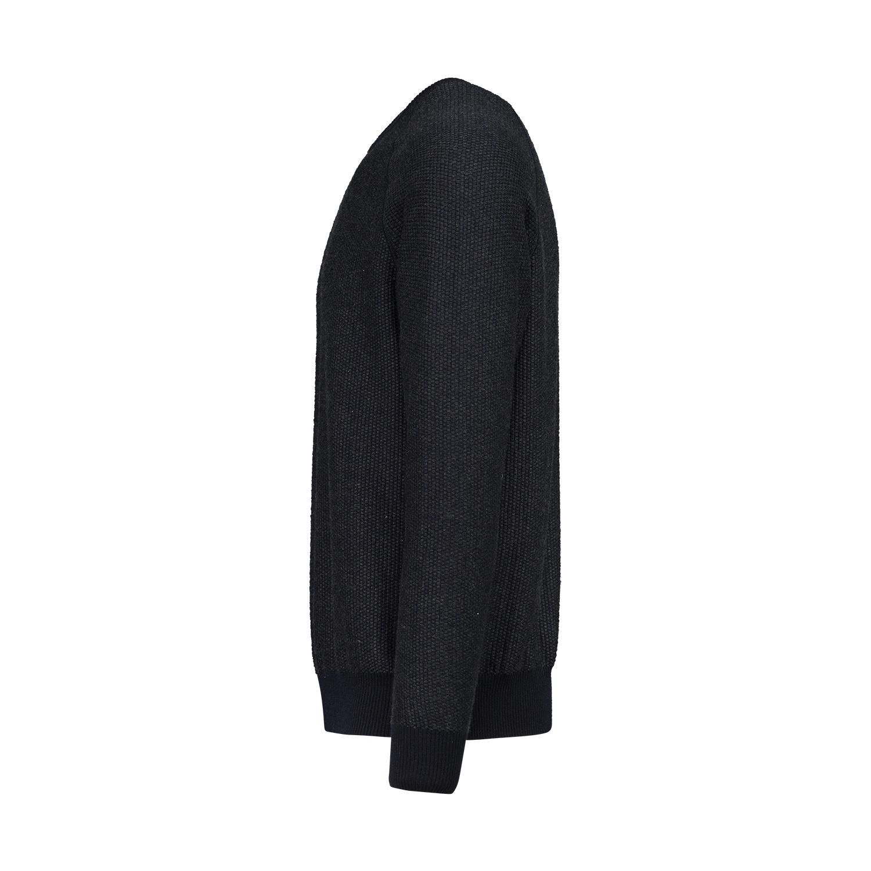 Valentino NON DISPONIBLE - Valentino pull anthracite et bleu marin en cachemire et soie