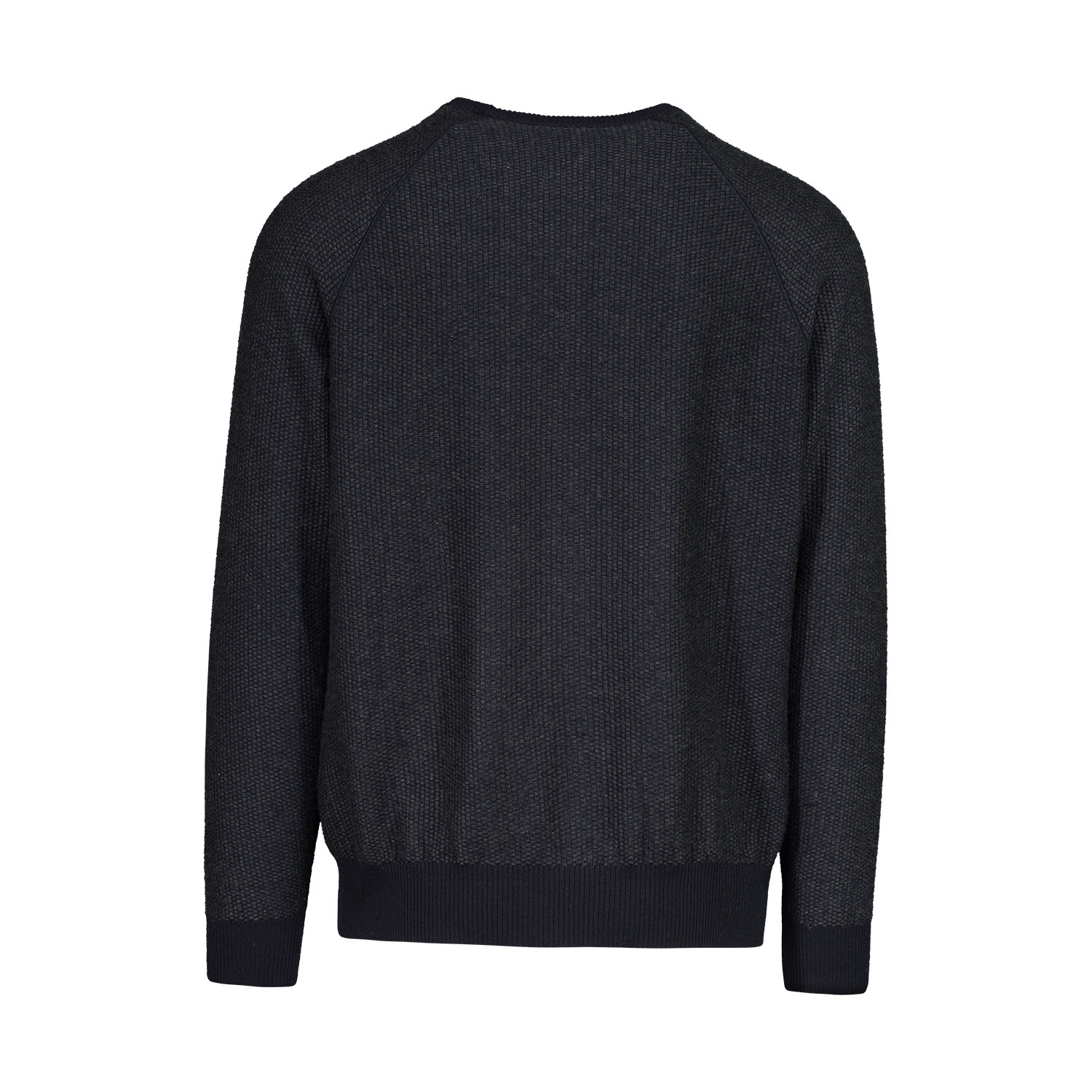 Valentino N/A - Valentino Charcoal And Navy Thermal Cashmere Blend Sweater