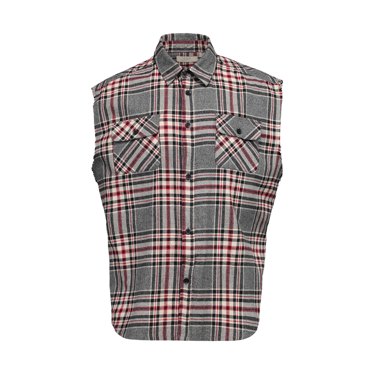 aa2f705c6473 Fear of God Collection One Sleeveless Flannel Shirt - Boutique LUC.S
