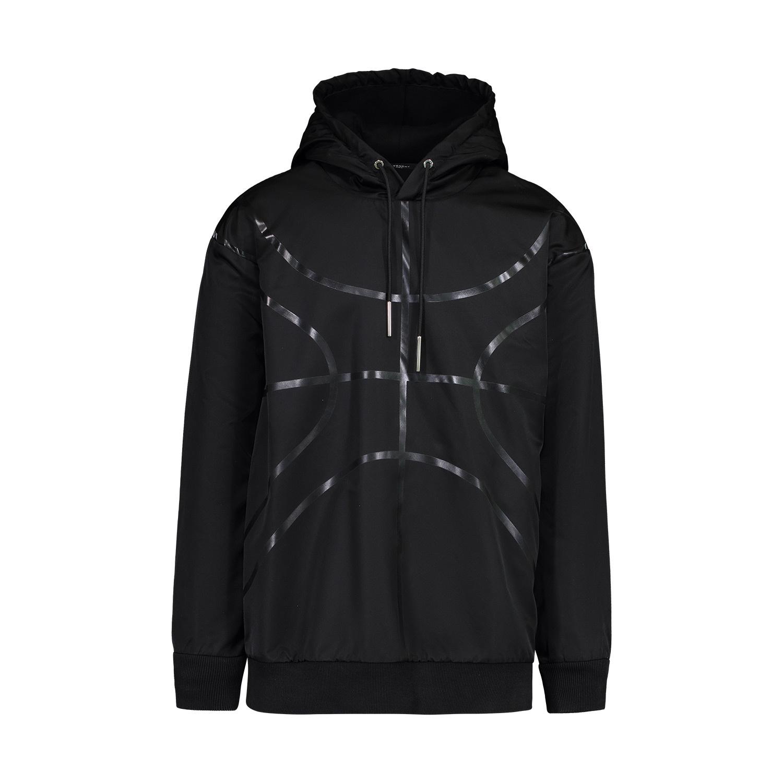 Givenchy Givenchy sweat à capuche noir en nylon épais style basket-ball