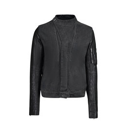 Rick Owens DRKSHDW Rick Owens DRKSHDW Slave Jacket with Leather Sleeves