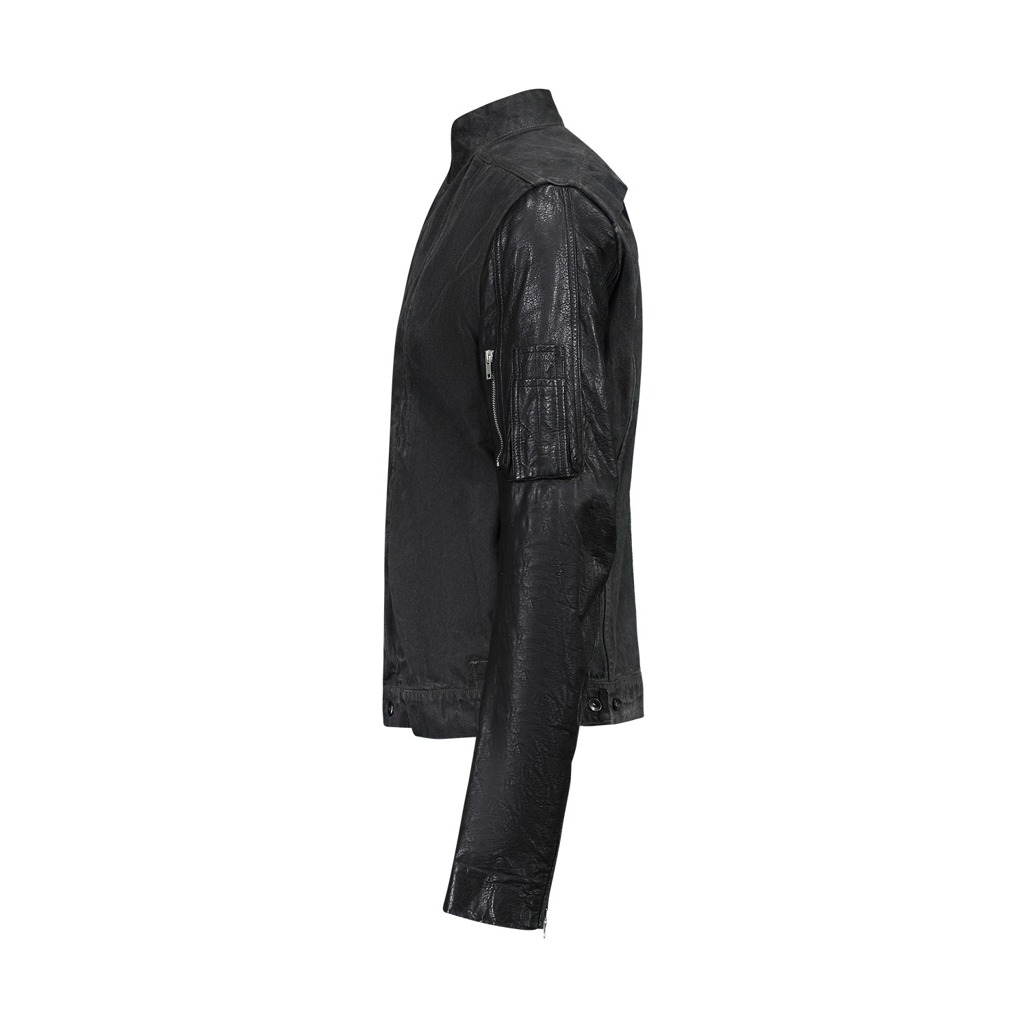 Rick Owens DRKSHDW N/A - Rick Owens DRKSHDW Slave Jacket with Leather Sleeves